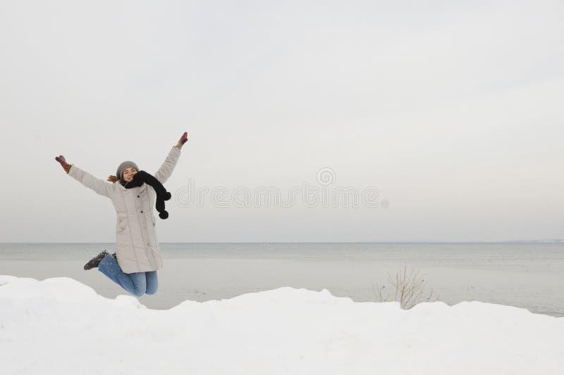 Apreciando o inverno fotos de stock royalty free