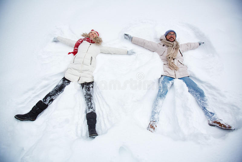 Apreciando o inverno imagem de stock royalty free