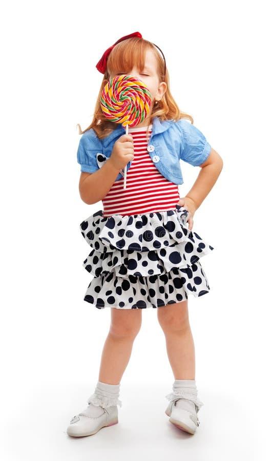 Apreciando o lollipop fotografia de stock