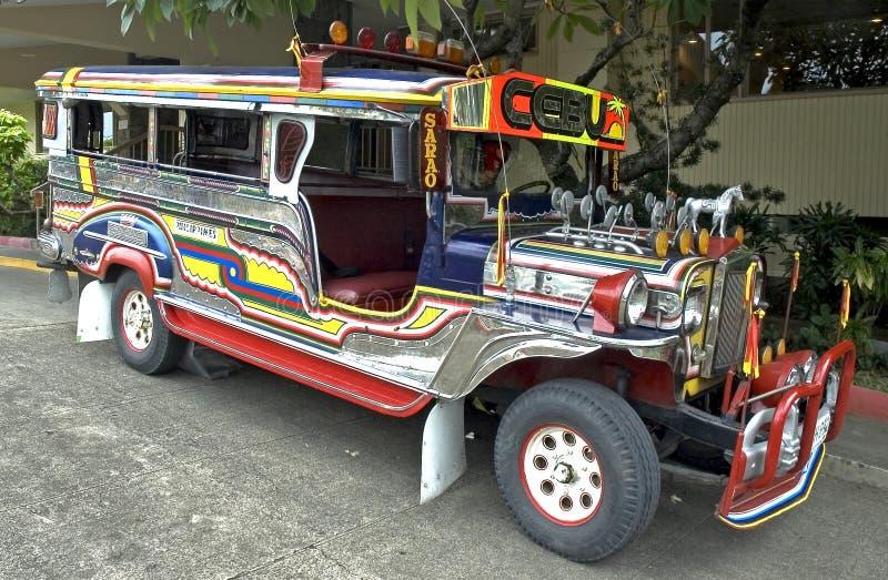 Apreciando o passeio do jeepney imagens de stock royalty free