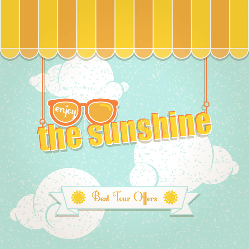 Aprecie a luz do sol ilustração royalty free