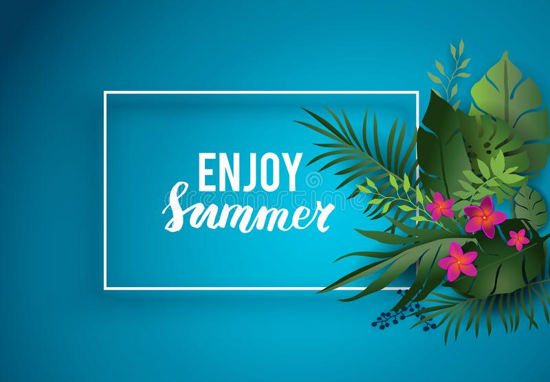 Aprecie o cartão de verão ilustração royalty free