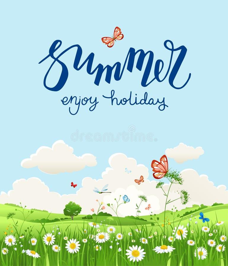 Aprecie o cartão de verão ilustração stock