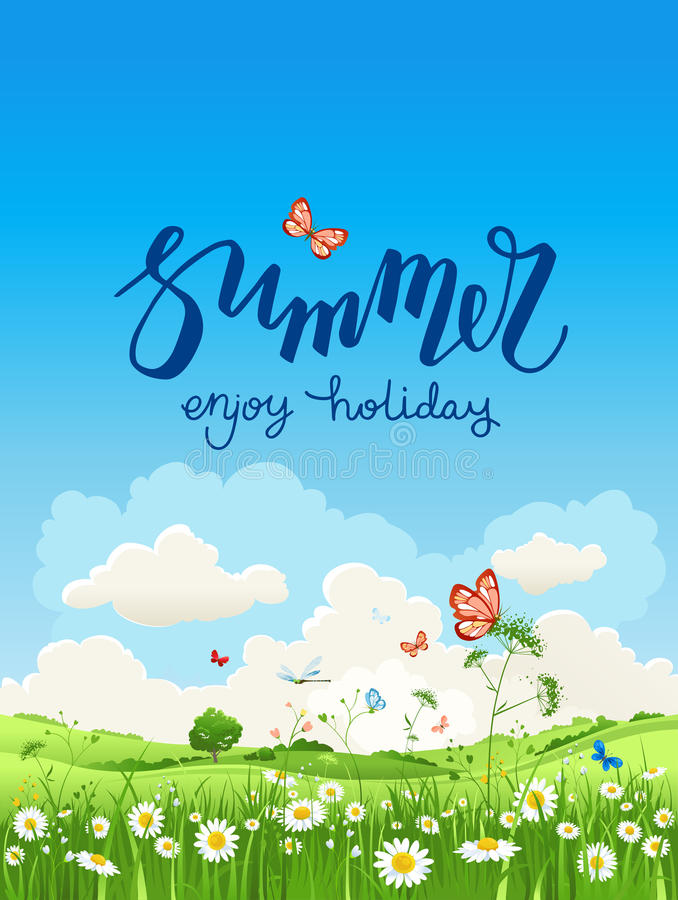Aprecie o tempo de verão ilustração stock