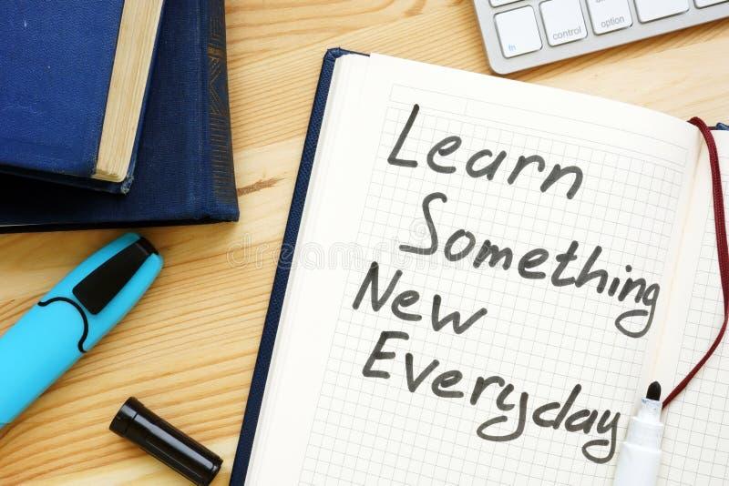 Aprenda algo novo cada dia Aprendizagem ao longo da vida fotos de stock