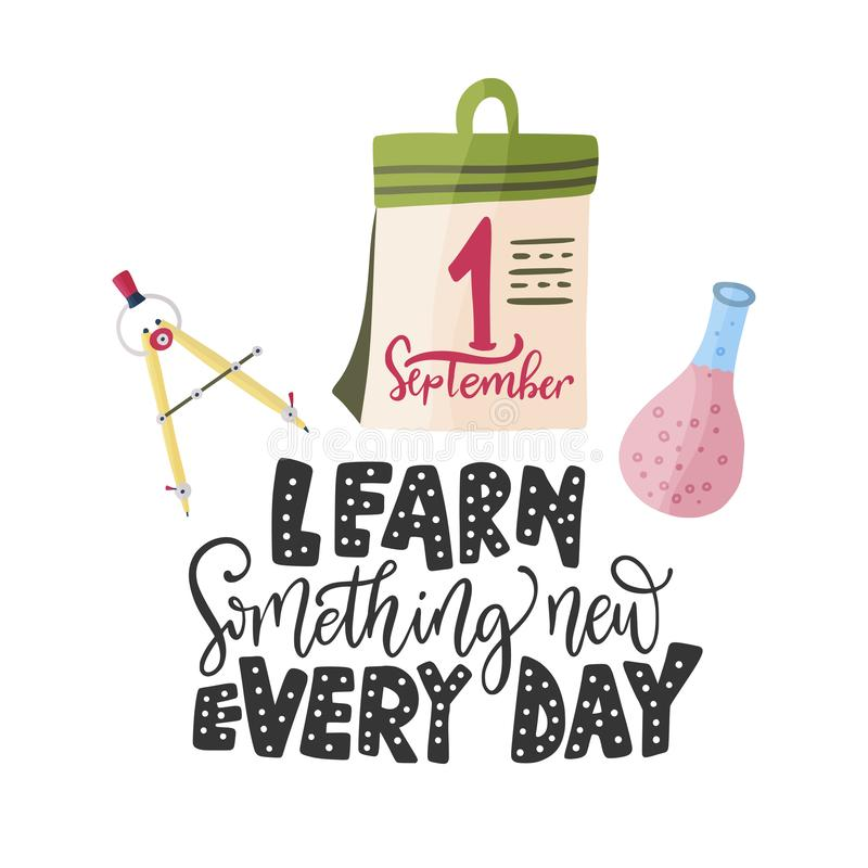 Aprenda algo novo cada dia Vetor ilustração stock