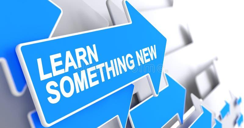 Aprenda algo nuevo - mensaje en indicador azul 3d libre illustration