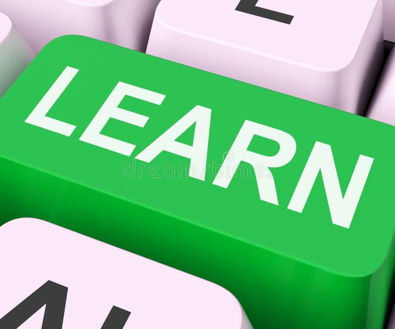 Aprenda a aprendizagem das mostras chaves ou o estudo em linha ilustração stock