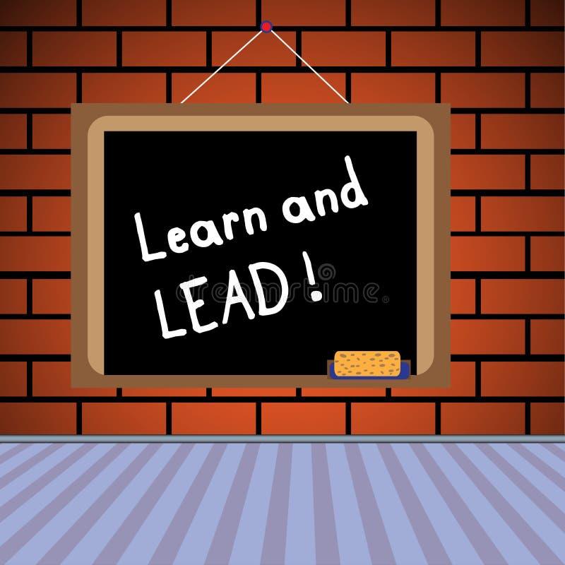 Aprenda e conduza ilustração stock