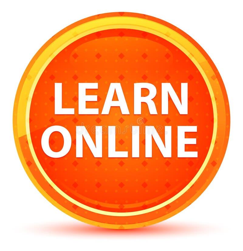 Aprenda el botón redondo anaranjado natural en línea fotografía de archivo libre de regalías