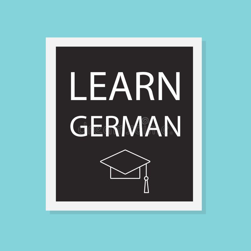 Aprenda el concepto alemán ilustración del vector