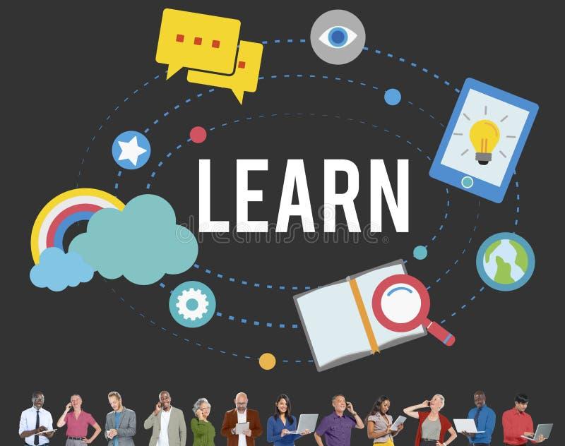 Aprenda el concepto del conocimiento de la actividad del estudio de la educación libre illustration