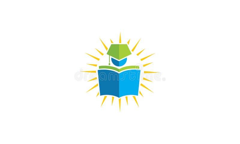 Aprenda el icono del vector del logotipo del libro del estudiante stock de ilustración