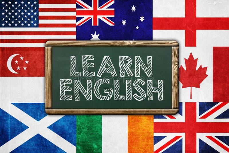 Aprenda el inglés fotos de archivo