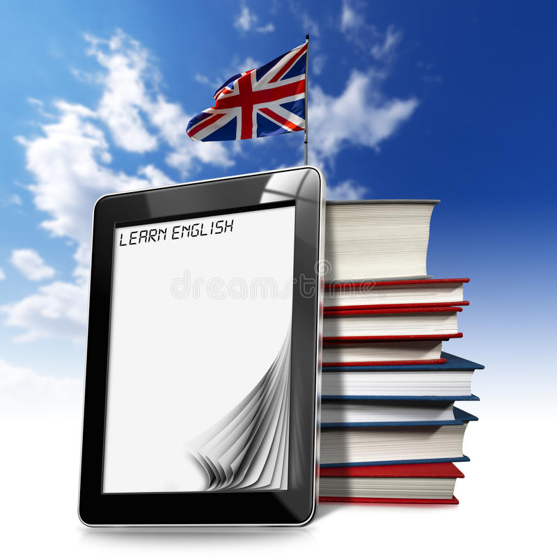Aprenda el inglés - tableta libre illustration