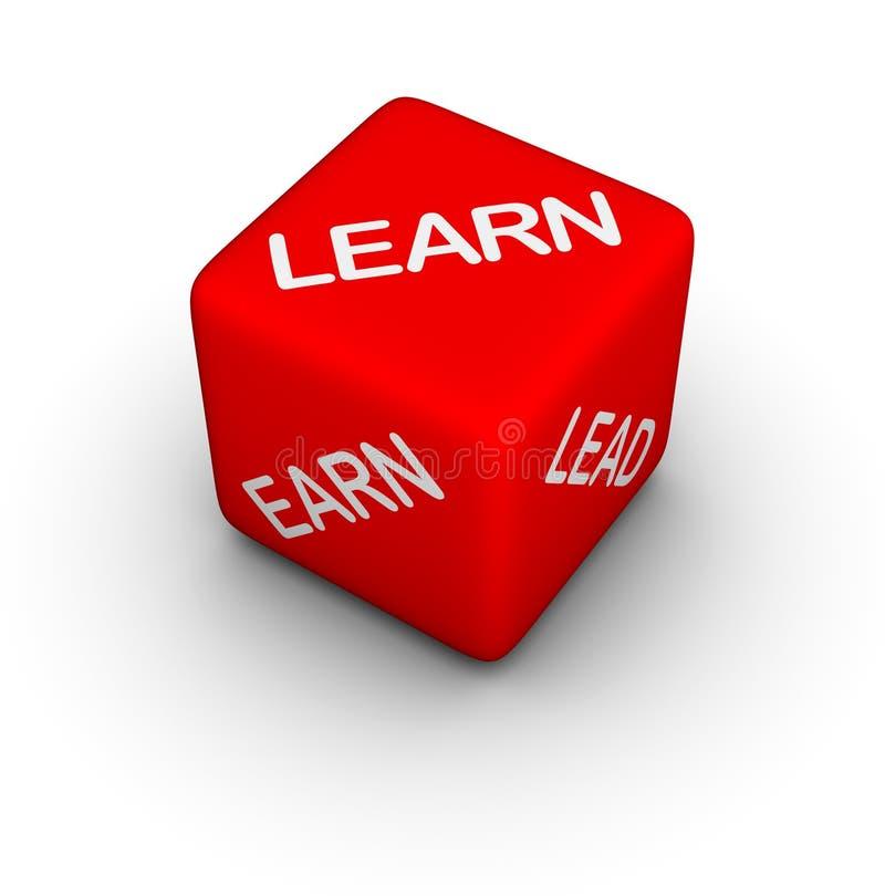 Aprenda, ganhe, conduza ilustração royalty free