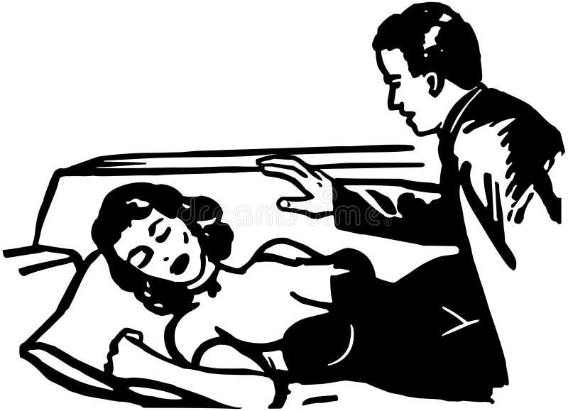 Aprenda hipnotizar stock de ilustración
