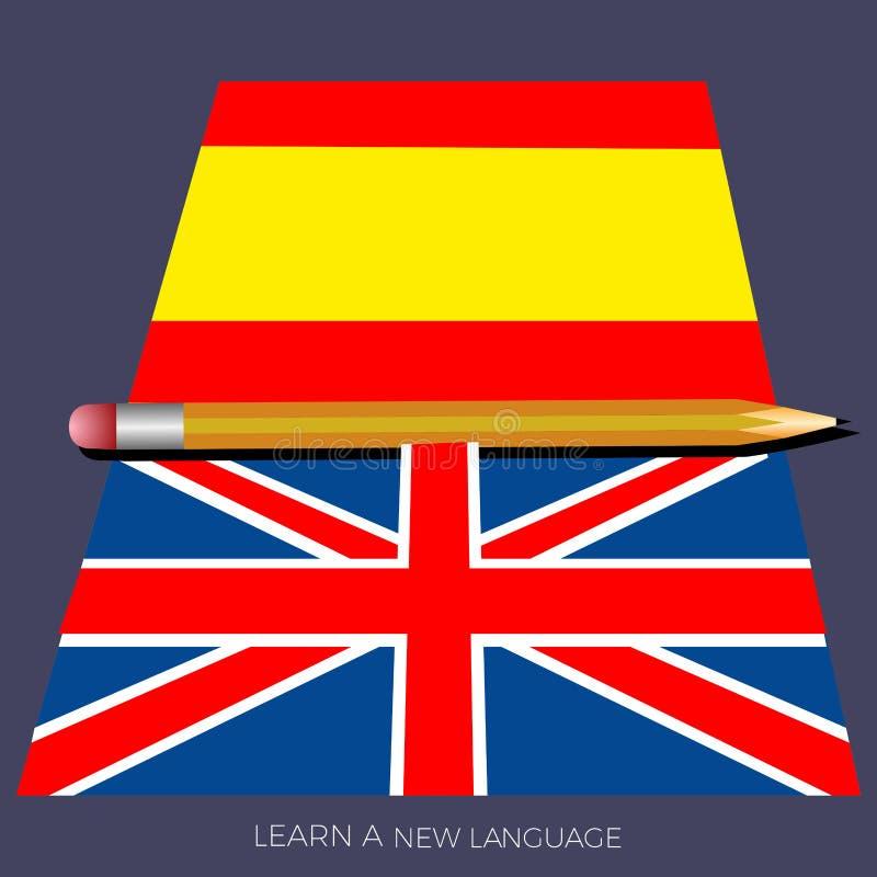 Aprenda a língua ilustração stock