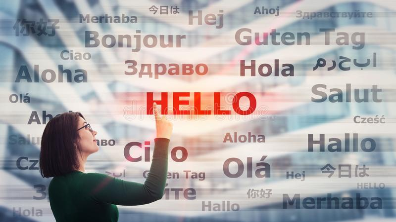 Aprenda línguas diferentes ilustração do vetor