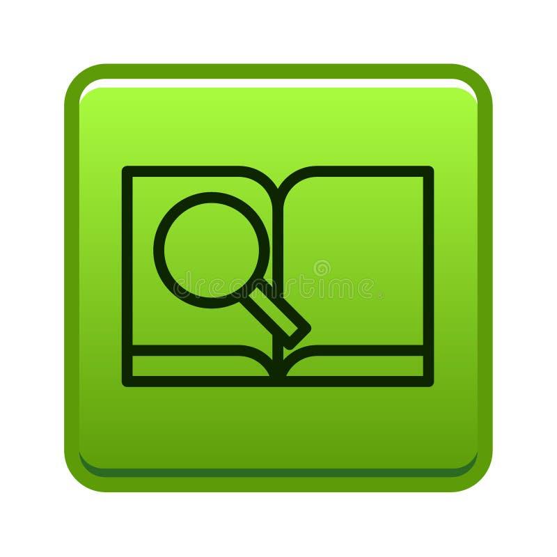 Aprenda más botón stock de ilustración