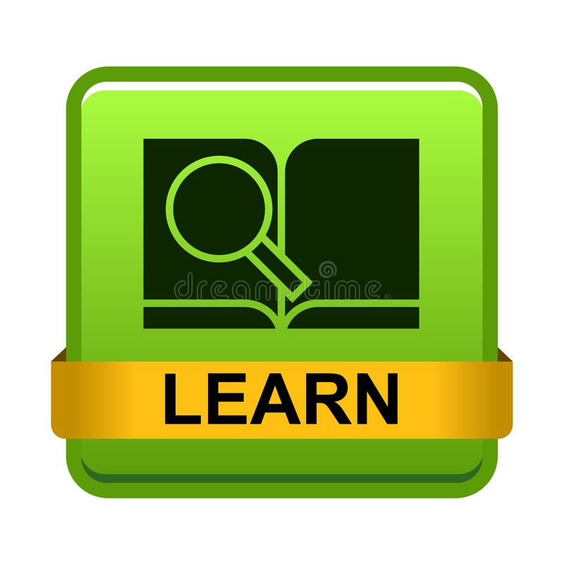 Aprenda más botón ilustración del vector