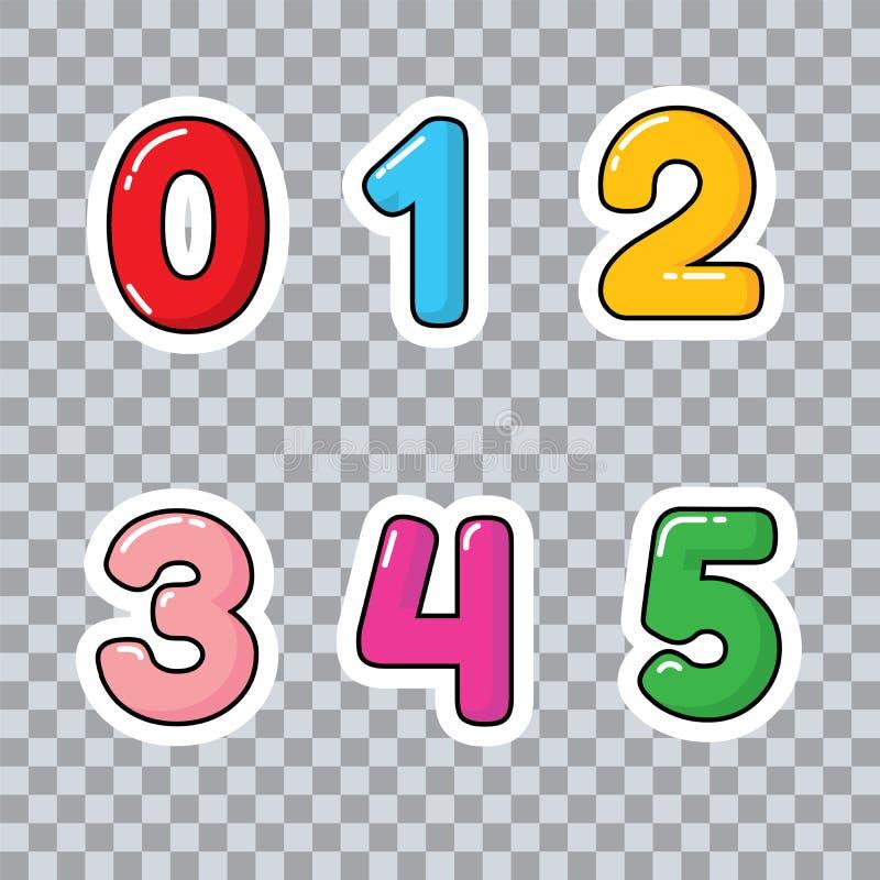 Aprenda números e contagem para números das crianças para o vetor das crianças imagens de stock royalty free
