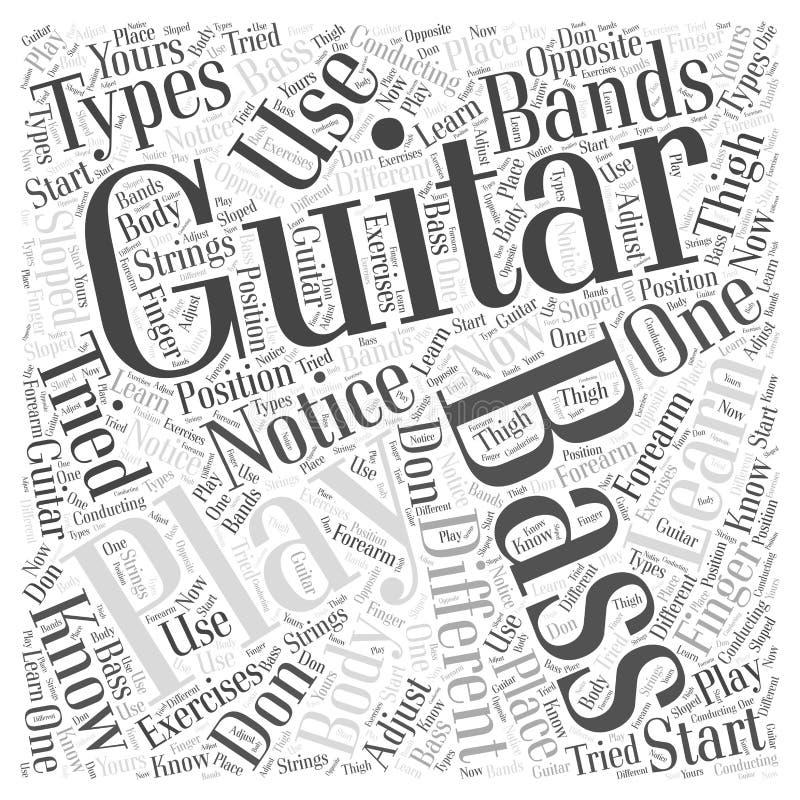 Aprenda o conceito da nuvem da palavra da guitarra-baixo ilustração stock