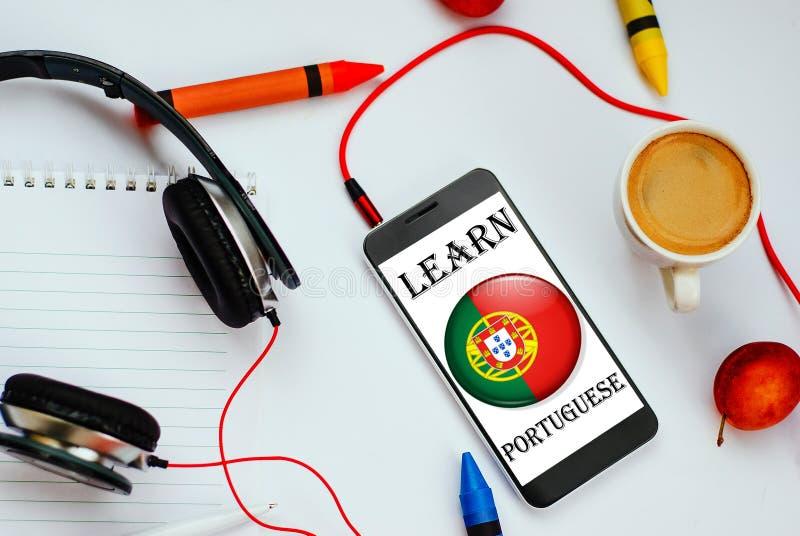 Aprenda o conceito português foto de stock royalty free