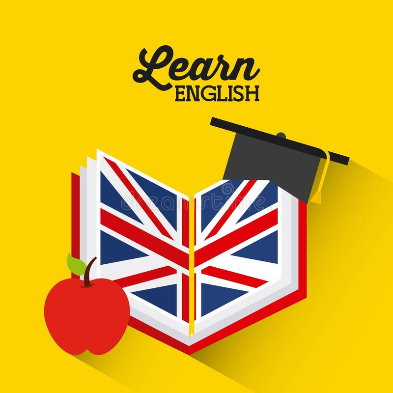 Aprenda o projeto do inglês ilustração do vetor