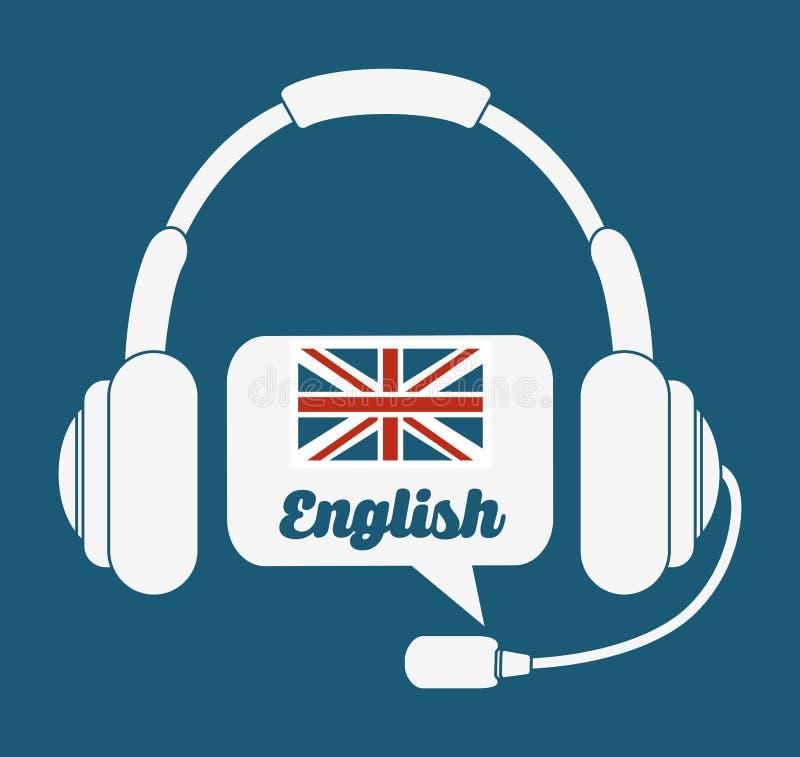 Aprenda o projeto do inglês ilustração royalty free