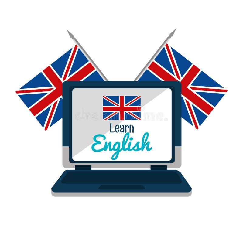 Aprenda o projeto do inglês ilustração stock