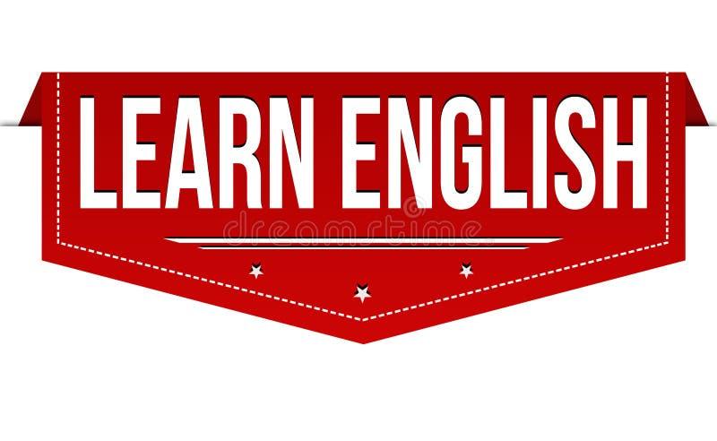 Aprenda o projeto inglês da bandeira ilustração stock