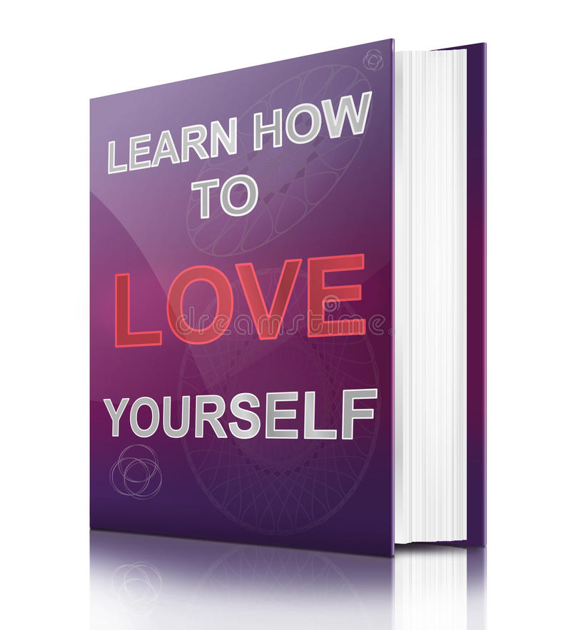 Aprenda quererse. stock de ilustración