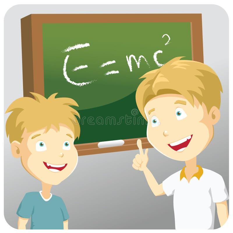 Aprendendo a ciência ilustração stock