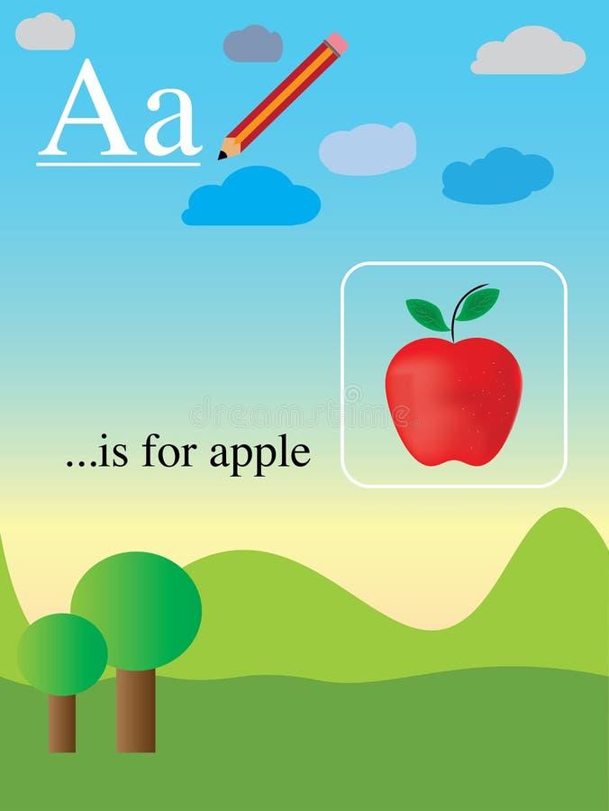 Aprendendo o alfabeto inglês fácil e divertimento ilustração royalty free