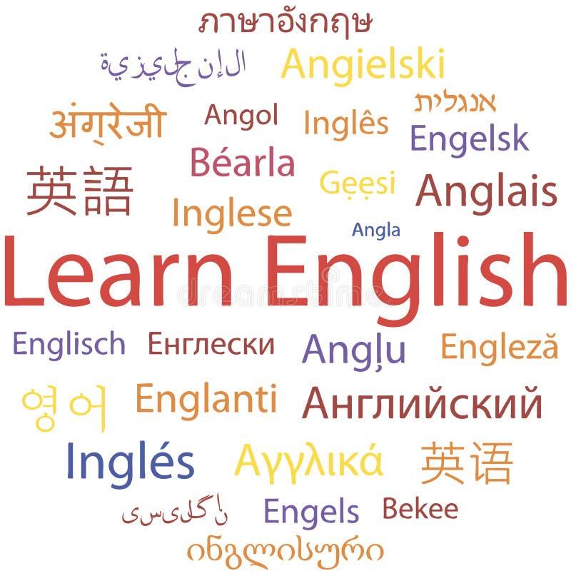 Aprendendo o inglês ilustração stock