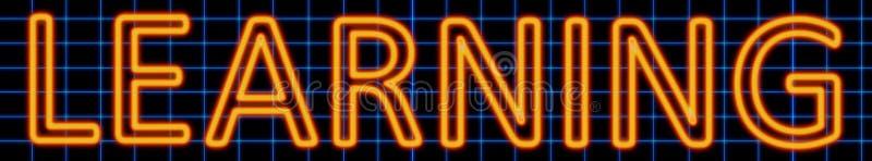 Aprendendo o sinal de néon ilustração royalty free