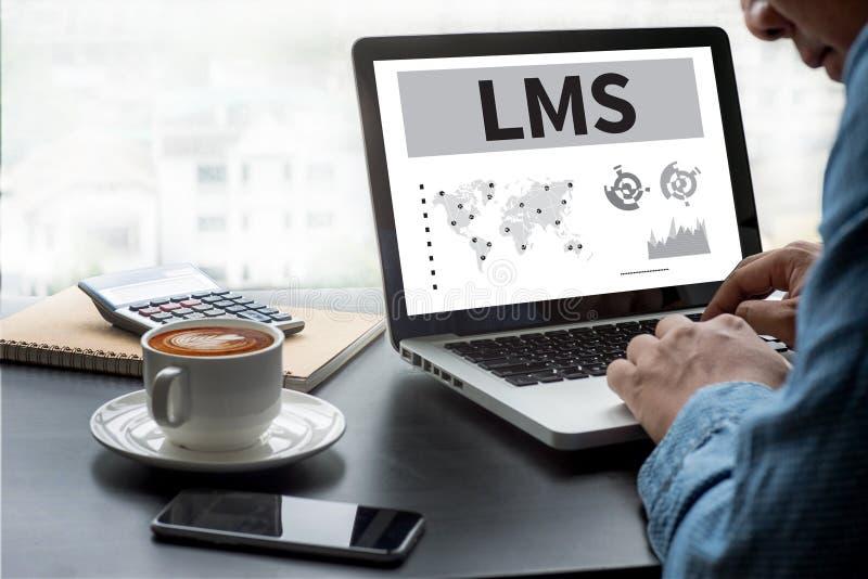 Aprendendo o sistema de gestão (LMS) foto de stock royalty free