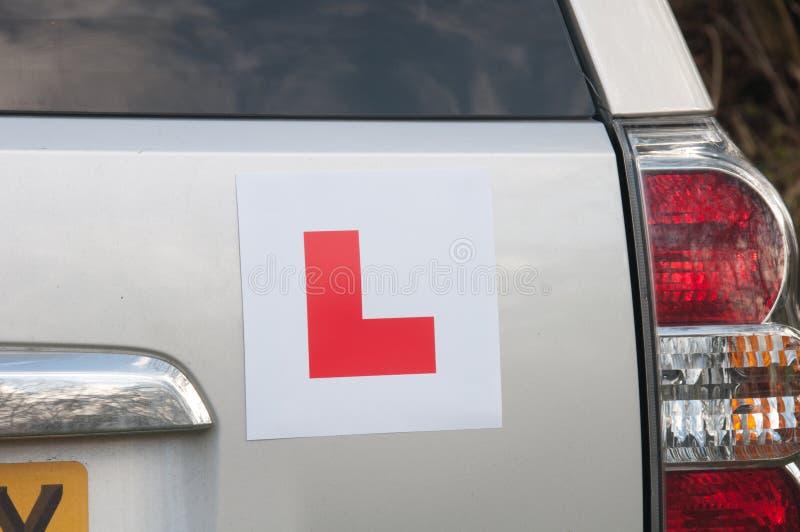 Aprendendo placas em um carro fotos de stock royalty free