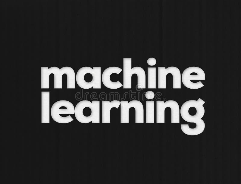 Aprendizagem de máquina automatizada ilustração do vetor