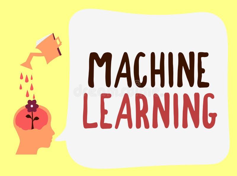 Aprendizagem de máquina do texto da escrita O significado do conceito dá a computadores a capacidade para ser ensinado com dados ilustração royalty free