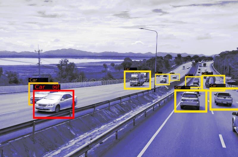 Aprendizagem de máquina e AI identificar a tecnologia dos objetos, conceito da inteligência artificial Processamento de imagens,  fotografia de stock royalty free