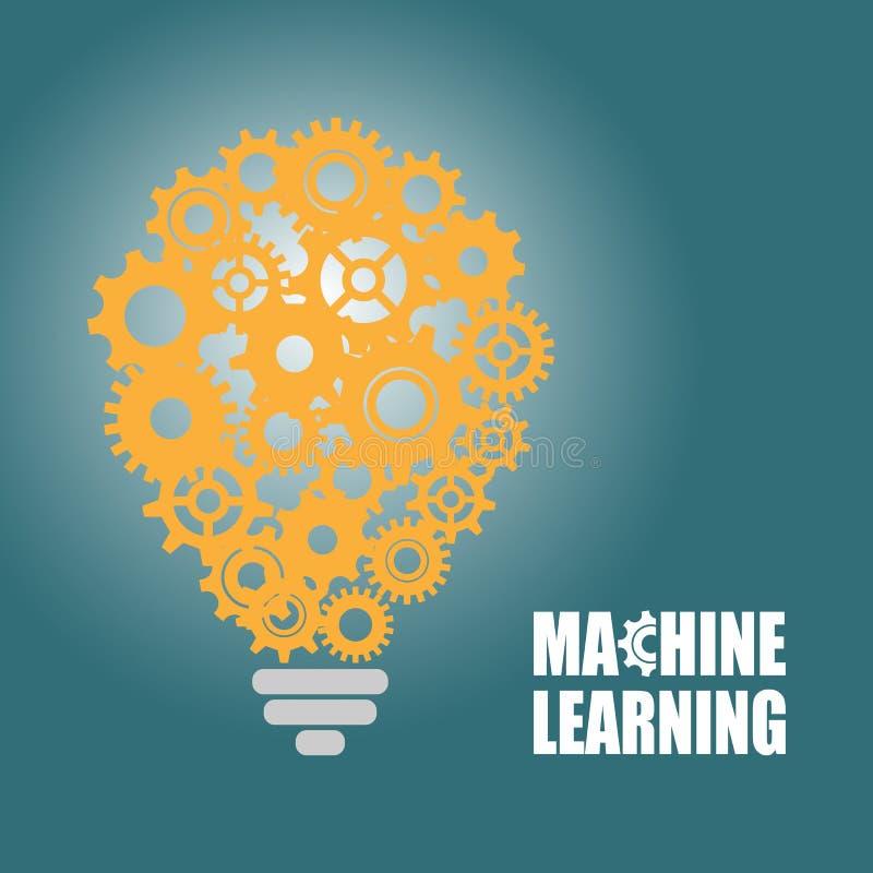 Aprendizagem de máquina e inteligência artificial ilustração do vetor