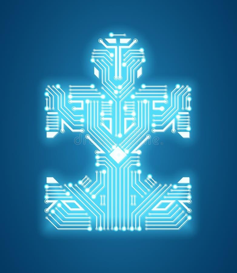 Aprendizagem digital do circuito e de máquina do enigma do vetor ilustração stock