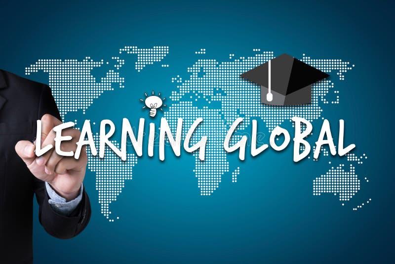 Aprendizagem global, edu da distância de uma comunicação global de uma comunicação fotos de stock