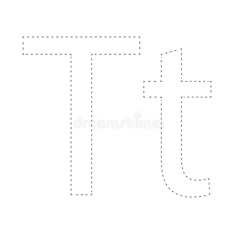 Aprendizaje de alfabeto, letra worksheet Aprendizaje de alfabeto Conecte los puntos y la página del colorante Juego para los cabr ilustración del vector