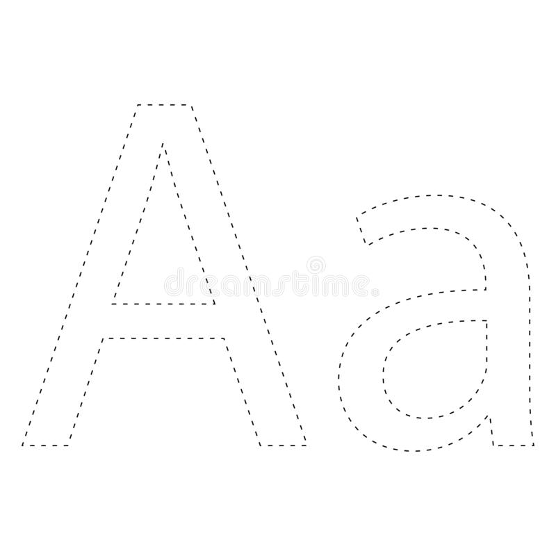 Aprendizaje de alfabeto, letra worksheet Aprendizaje de alfabeto Conecte los puntos y la página del colorante Juego para los cabr stock de ilustración