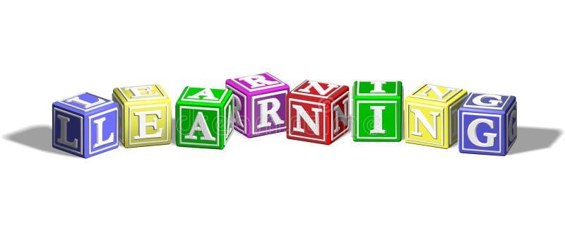 Aprendizaje de bloques del alfabeto stock de ilustración
