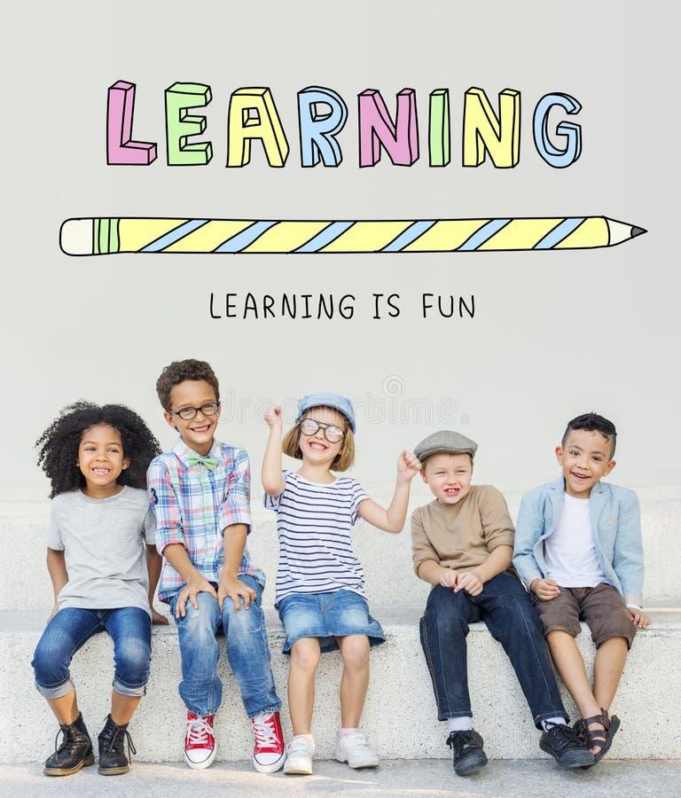 Aprendizaje de concepto de la escuela de la educación del conocimiento del estudio imagen de archivo