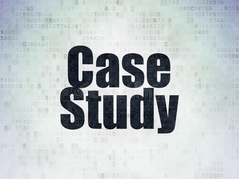 Aprendizaje de concepto: Estudio de caso en fondo del papel de datos de Digitaces ilustración del vector